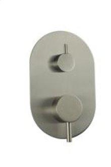 Pressure Balance Mixer with 2 Way Diverter RND + LEVER - Brushed Nickel
