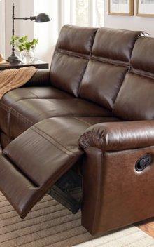 STANDARD 4029392 Wyatt 100% Leather Reclining Sofa