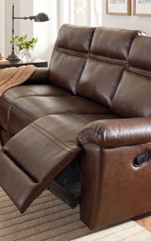 STANDARD 4029392 Wyatt 100% Leather Reclining Sofa