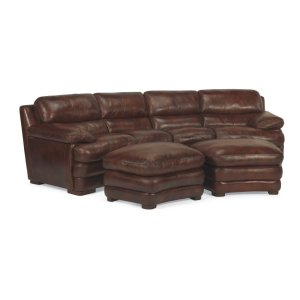 1127326Flexsteel Dylan Leather Conversation Sofa without ...