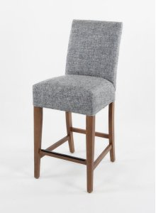 "Straight top barstool with small nails. 24"" barstools have a seat height of 26"" when measured"