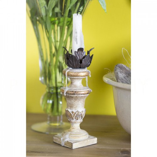 Painted Mini Cream Candlestick