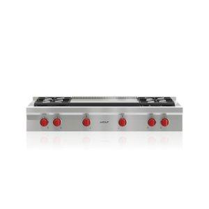 "Wolf48"" Sealed Burner Rangetop - 4 Burners and Infrared Dual Griddle"
