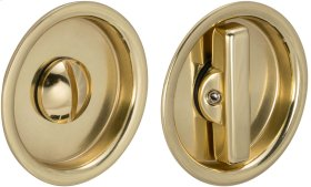 Sliding Pocket Door Mortise Lock in (US3 Polished Brass, Lacquered)