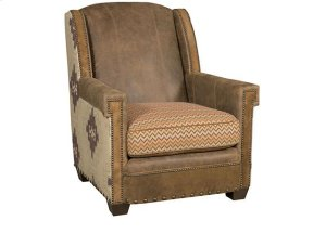 Mustang Leather Fabric Chair, Mustang Leather Fabric Ottoman