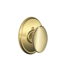 Siena Knob with Wakefield trim Non-turning Lock - Bright Brass