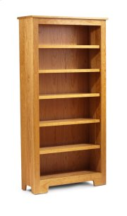 "Shaker Wide Bookcase, Shaker Wide Bookcase, 5-Adjustable Shelves, 43 1/2""w Product Image"