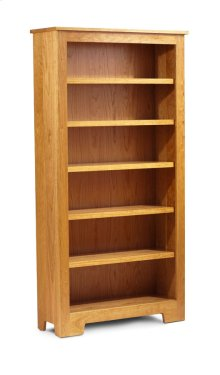 "Shaker Wide Bookcase, Shaker Wide Bookcase, 5-Adjustable Shelves, 37 1/2""w"