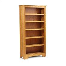 """Shaker Wide Bookcase, Shaker Wide Bookcase, 5-Adjustable Shelves, 37 1/2""""w"""