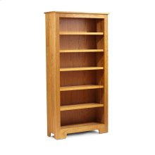 "Shaker Wide Bookcase, Shaker Wide Bookcase, 5-Adjustable Shelves, 43 1/2""w"
