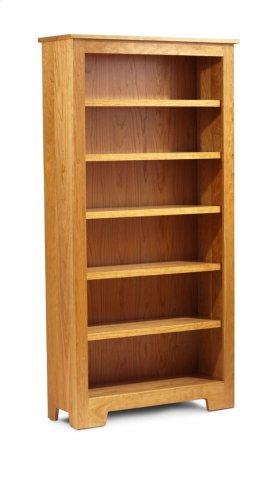"""Shaker Wide Bookcase, Shaker Wide Bookcase, 5-Adjustable Shelves, 43 1/2""""w"""