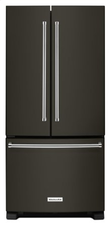 22 Cu. Ft. 33-Inch Width Standard Depth French Door Refrigerator with Interior Dispense - Black Stainless