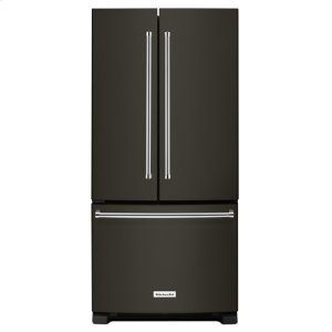 KitchenAid22 Cu. Ft. 33-Inch Width Standard Depth French Door Refrigerator with Interior Dispenser - Black Stainless Steel with PrintShield™ Finish