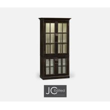 Plank Dark Ale Tall Bookcase with Strap Handles