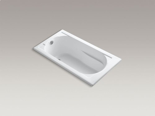 """Dune 60"""" X 32"""" Drop-in Bath With Bask Heated Surface and Reversible Drain"""