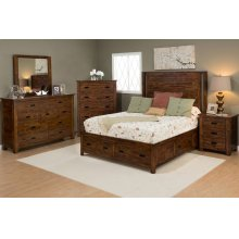 Coolidge Corner King Footboard With Foot Drawers