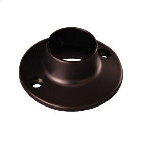 Round Shower Rod Flange - Polished Chrome