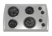 30-inch Electric Cooktop with Stainless Steel Surface Product Image