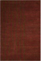LUSTER WASH SW15 BRICK RECTANGLE RUG 8'3'' x 11'