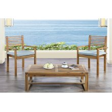3 Piece Wood Patio Set