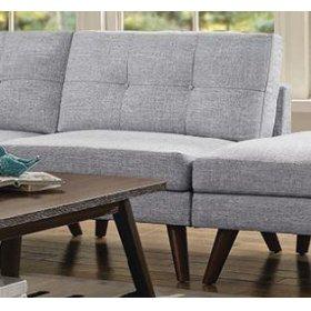 Churchill Modern Grey Armless Chair
