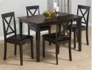 Burly Brown/black Table and Four X Back Chairs Product Image