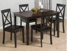 Burly Brown/black Table and Four X Back Chairs
