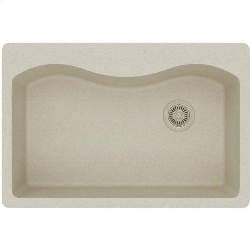 "Elkay Quartz Classic 33"" x 22"" x 9-1/2"", Single Bowl Drop-in Sink, Bisque"