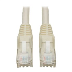 Premium Cat6 Gigabit Snagless Molded UTP Patch Cable, 24 AWG, 550 MHz/1 Gbps (RJ45 M/M), White, 4 ft.