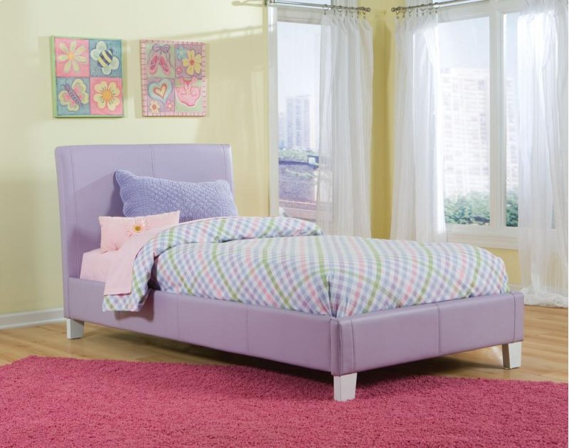 60750PT in by American Wholesale Furniture in Taylor, MI - Twin Pink Bed