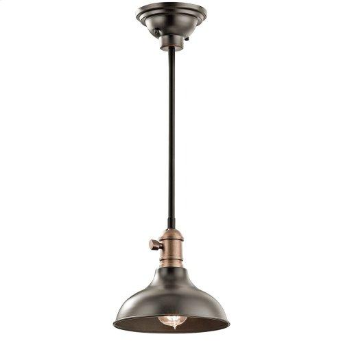 "Cobson 8"" 1 Light Convertible Mini Pendant Olde Bronze®"