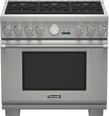 """36"""" Professional Series Pro Grand Commercial Depth All Gas Range"""