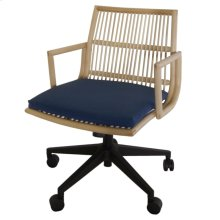 Virza KD Rattan Office Chair, Deep Blue