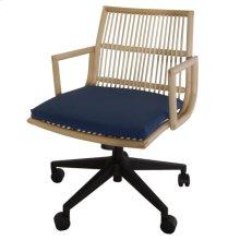 Virza KD Rattan Office Chair, Deep Blue