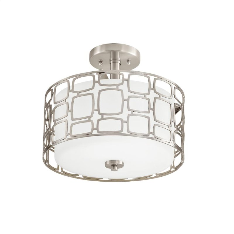 Sabine 2 Light Semi Flush Mount Ni