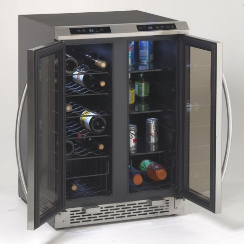 Side-by-Side Dual Zone Wine/Beverage Cooler