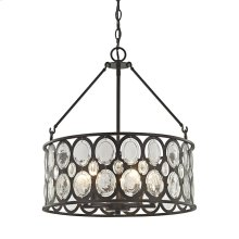 Serai 5-Light Chandelier in Oil Rubbed Bronze with Clear Glass