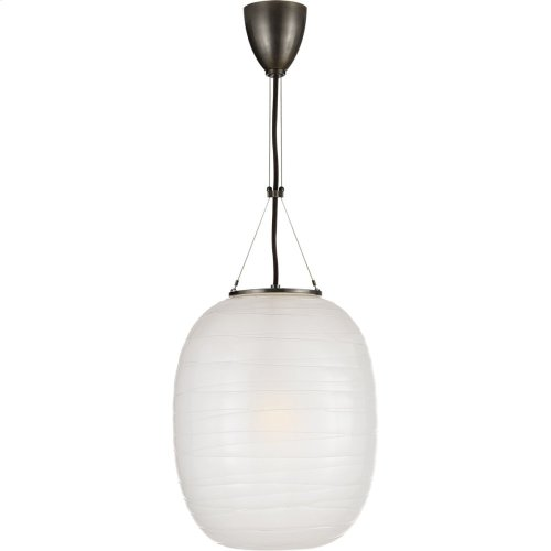 Visual Comfort AH5016BZ-FG Alexa Hampton Hailey 1 Light 14 inch Bronze Pendant Ceiling Light, Medium Oblong