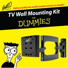 Deluxe articulating/Tilt/Pan mount for most* small to medium size TVs including For Dummies installation guide and For Dummies step-by-step DVD video.