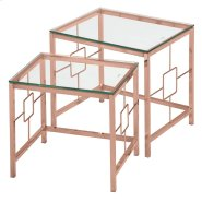 Athena 2Pc Nesting Tables in Rose Gold Product Image