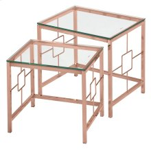 Athena 2Pc Nesting Tables in Rose Gold