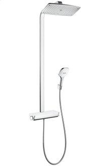 White/chrome Raindance Select 360 Showerpipe