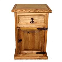 1 Drawer 1 Door Night Stand W/rope