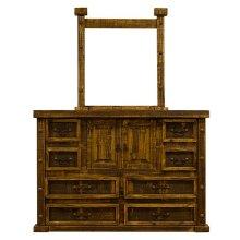 Rough Pine Door Dresser