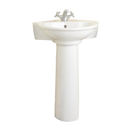 Evolution Corner Pedestal Lavatory - White