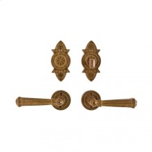 "Round Briggs Entry Set - 2 1/2"" Bronze Dark Lustre"