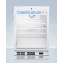 "24"" Wide Glass Door Commercial All-refrigerator With Lock, Digital Thermostat, Internal Fan, and Access Port for User-provided Monitoring Equipment"