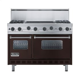 "Chocolate 48"" Sealed Burner Range - VGIC (48"" wide, four burners 24"" wide char-grill)"