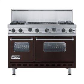 "Chocolate 48"" Sealed Burner Range - VGIC (48"" wide, four burners 24"" wide char-grill)"