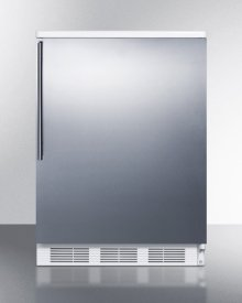 Built-in Undercounter All-refrigerator for General Purpose Use W/automatic Defrost, Stainless Steel Wrapped Door, Thin Handle, and White Cabinet